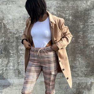 NWT brown coat/ shacket